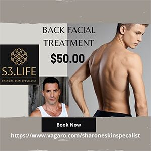 back facial special sharone skin specialist